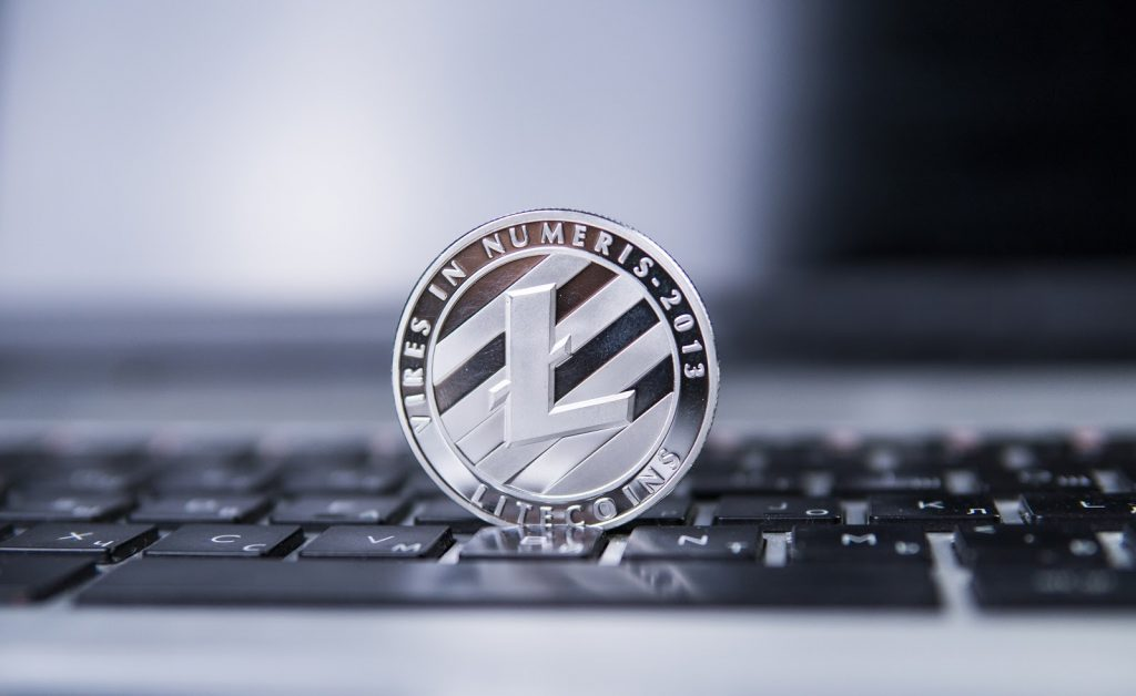 Litecoin Standing on a Keyboard