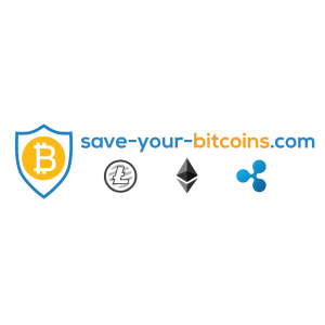 The logo for save-your-bitcoin.com, a Europe retailer