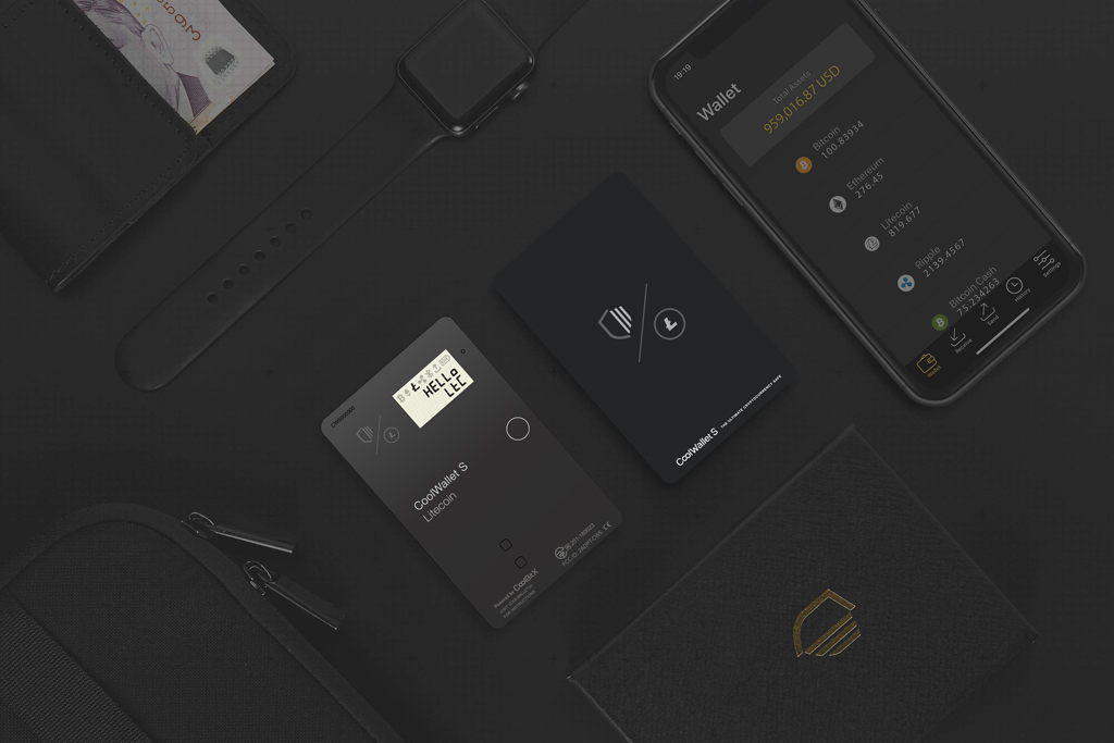 Litecoin Foundation co-branded CoolWallet S cards and mobile phone