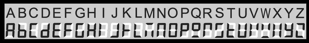 E-paper Alphabet Table