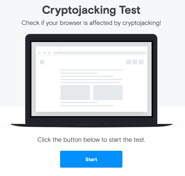 cryptojacking test