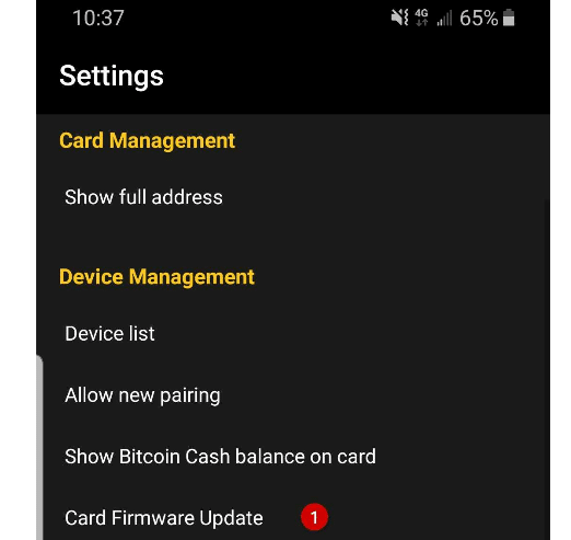 coolwallet firmware update